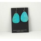ERN63 Santo Domingo Turquoise Slab Earrings