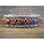 PB14 Pawn Coral Bracelet Navajo Handmade