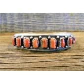 PB15 Pawn Single Row Coral Bracelet