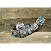 CB2 Estate Sleeping Beauty Turquoise Concho Belt