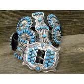 CB7 Pawn Navajo Handmade Concho Belt