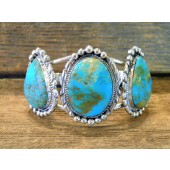 MLAB13 Monroe & Lillie Ashley Turquoise  Sterling Silver Bracelet