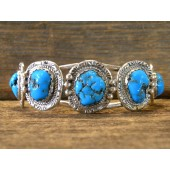 MLB4 Monroe & Lillie Ashley 5 stone Sleeping Beauty Turquoise Bracelet