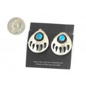 EK1 Bear Paw Clip Earrings