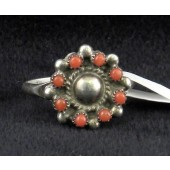 R9 Zuni Coral Ring