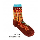 SK513- Flower Boots In Sizes 5-7 & 8-11