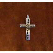 KCP2 Hopi Sterling Silver Overlay Cross