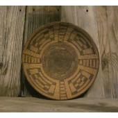 Turtle Back Design. Antique, Pima Indian Handmade Basket, Circa 1800 ONB13