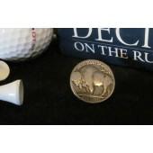 GBM8-Buffalo Nickel Golf Ball Marker