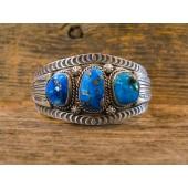 PB16- Pawn 3 Stone Turquoise Bracelet