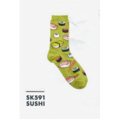SK591- Sushi Design Ladies Sock