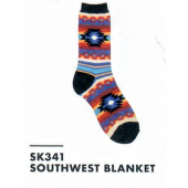 SK341- Southwest Blanket Ladies Sock