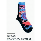 SK565- Saguaro Sunset Ladies Sock