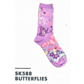 SK588- Butterflies Ladies Sock