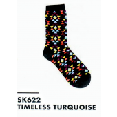 SK622- Timeless Turquoise Ladies Sock